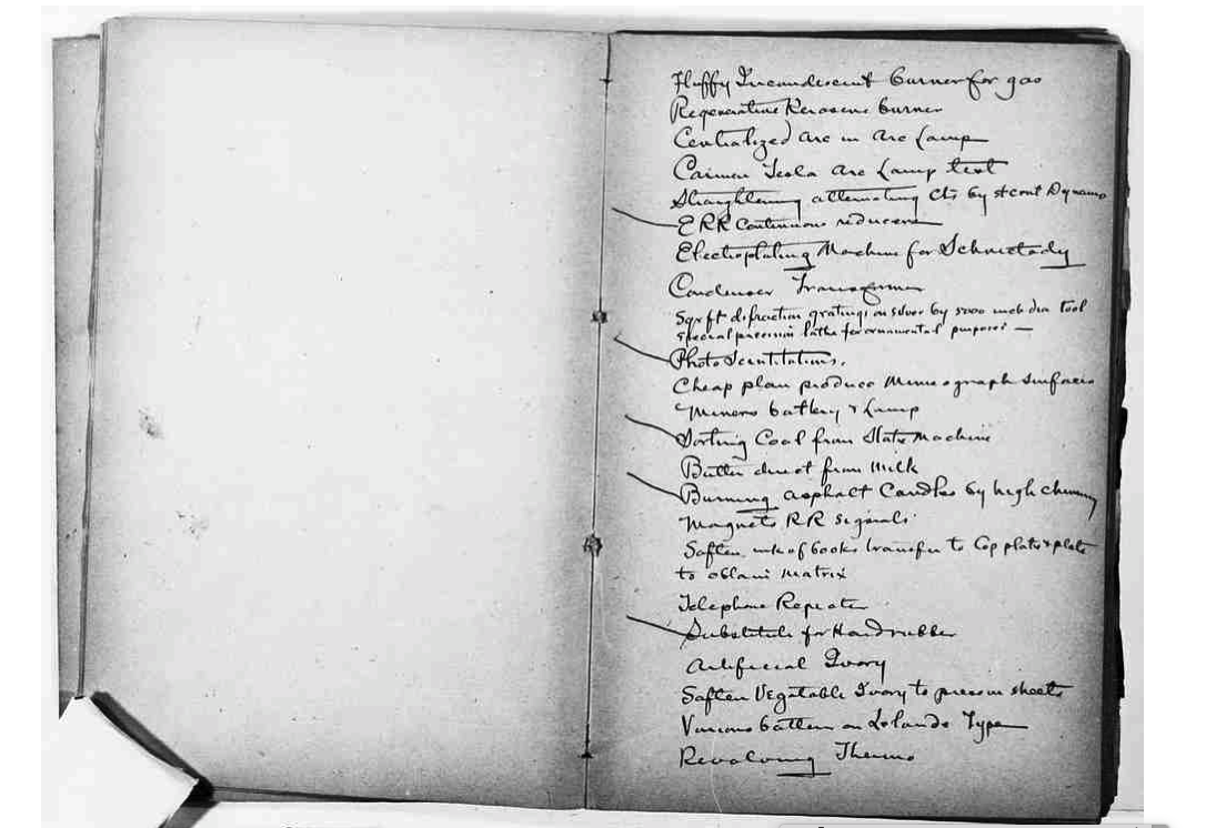 エジソンのノート