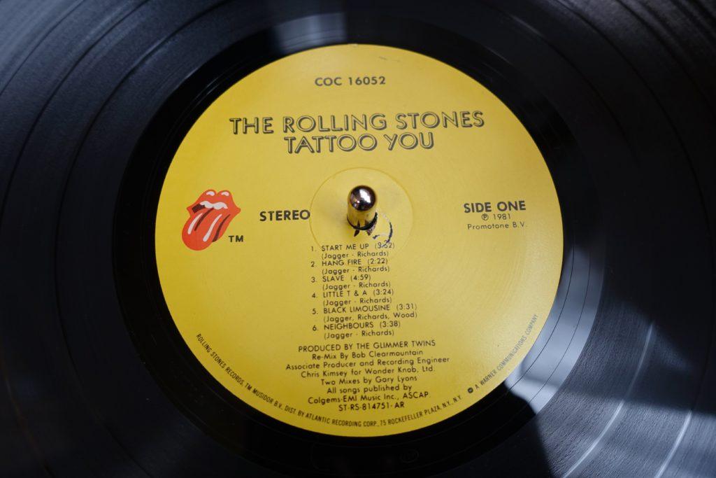 レコードの盤面