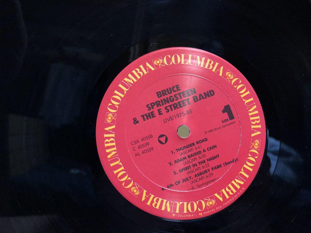 レコードのレーベル面
