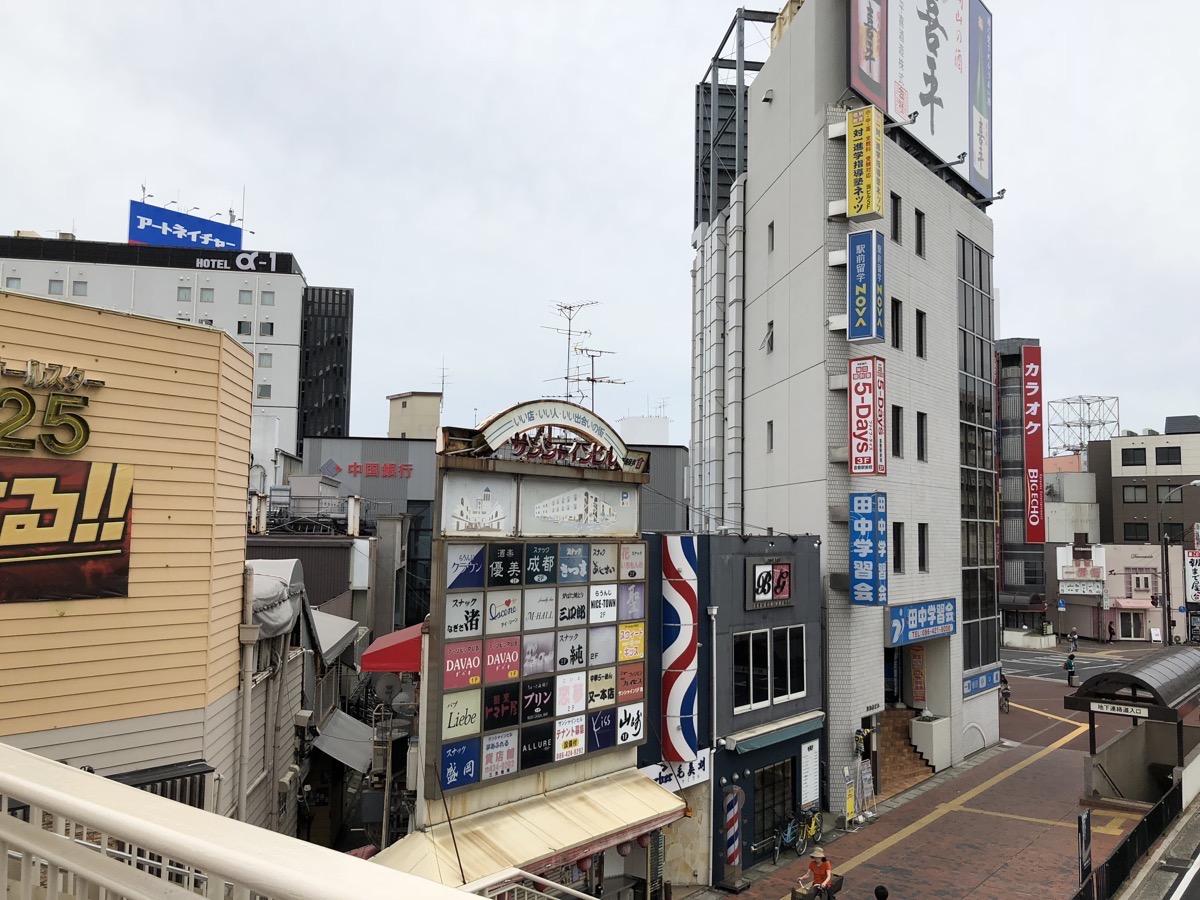 倉敷駅前の様子