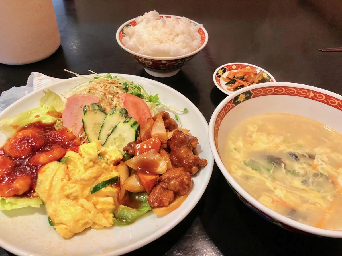 凰昇楼の中華定食
