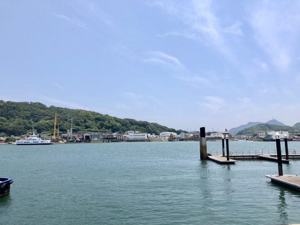 onomichi shareから見た海