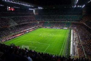 サッカースタジアムの光景