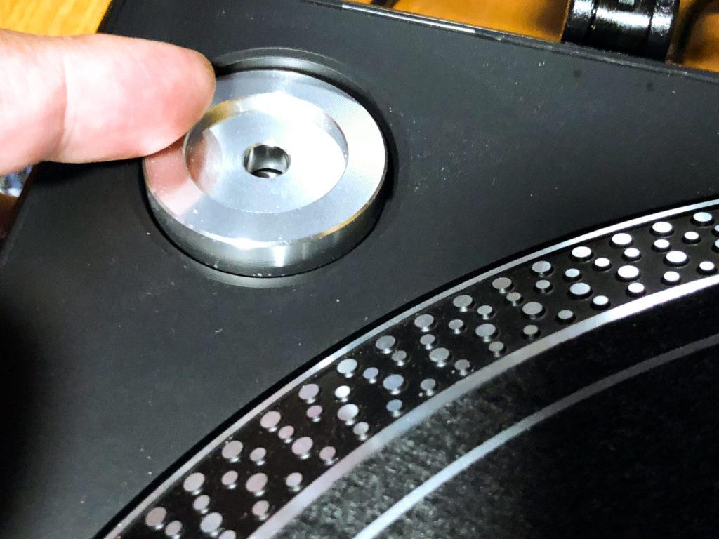 ドーナツ盤のアダプター