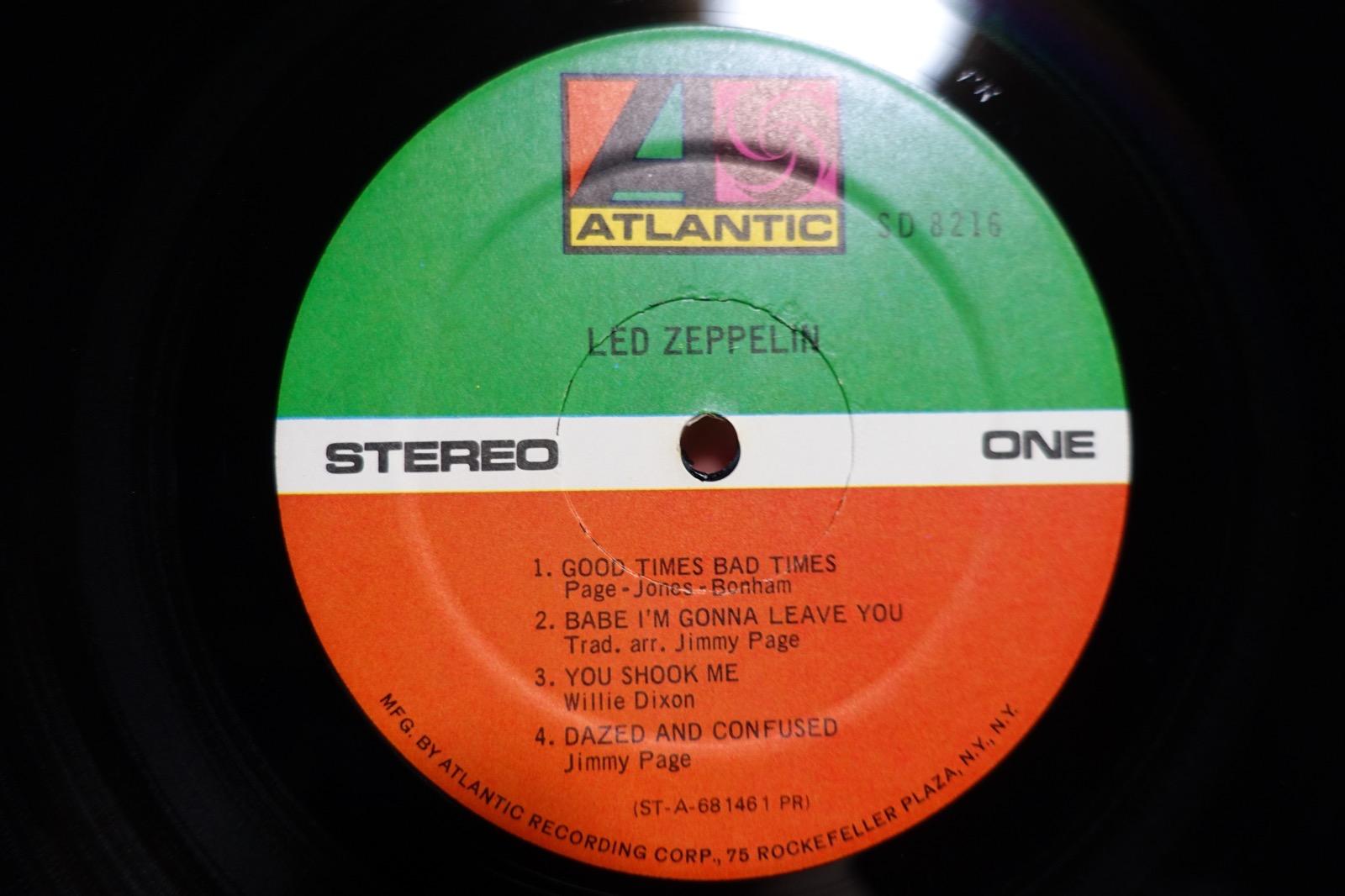 Led Zeppelin Ⅰのレーベル面