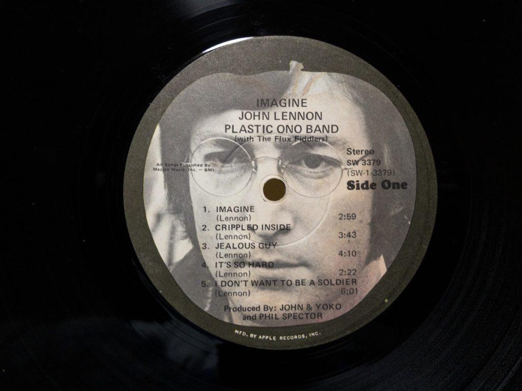 ジョン・レノンのイマジンUS盤のA面