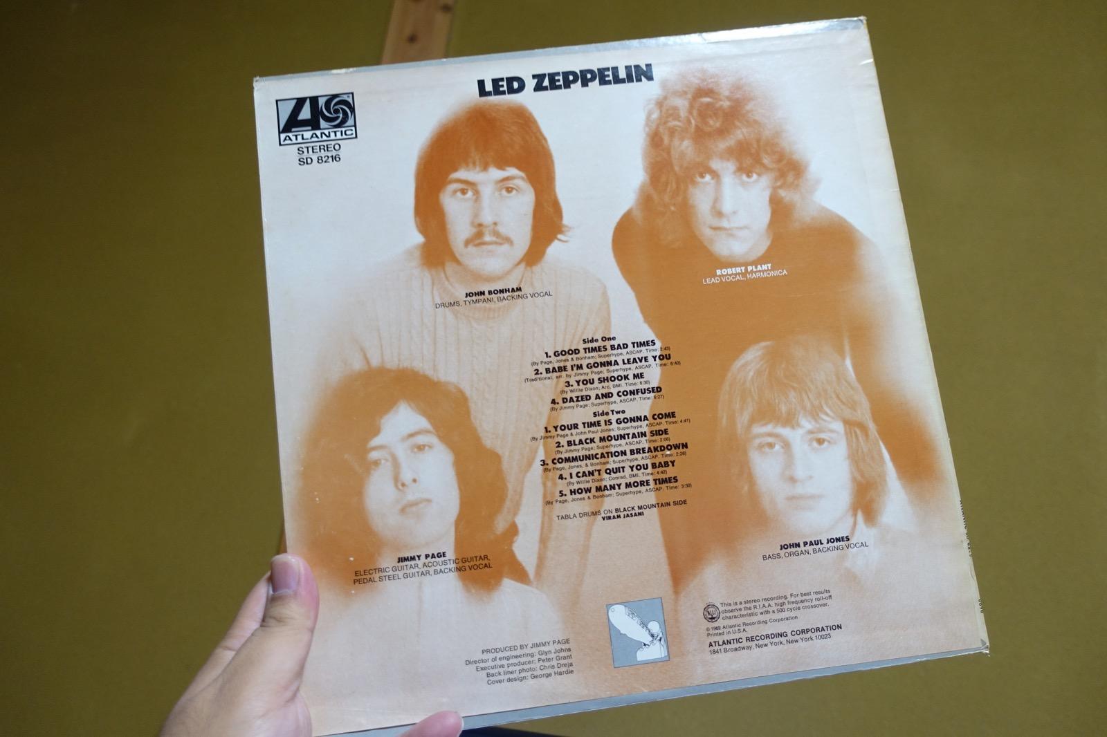 Led Zeppelin Ⅰのバックジャケット
