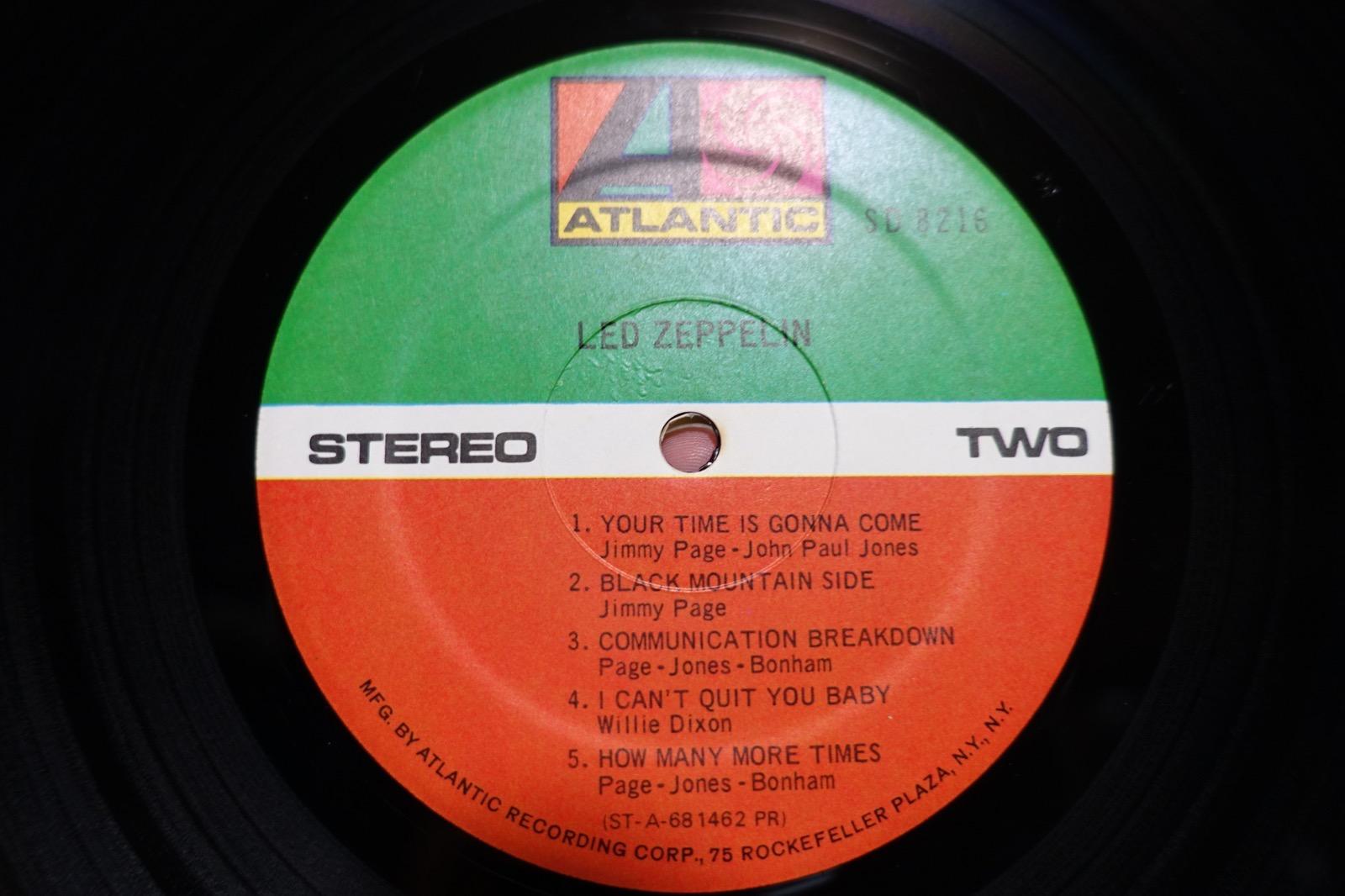 Led ZeppelinⅠのレーベル面