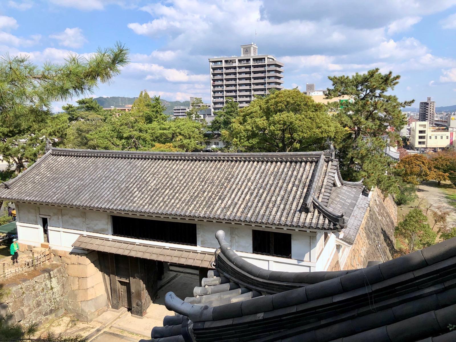 伏見櫓から見た筋鉄御門