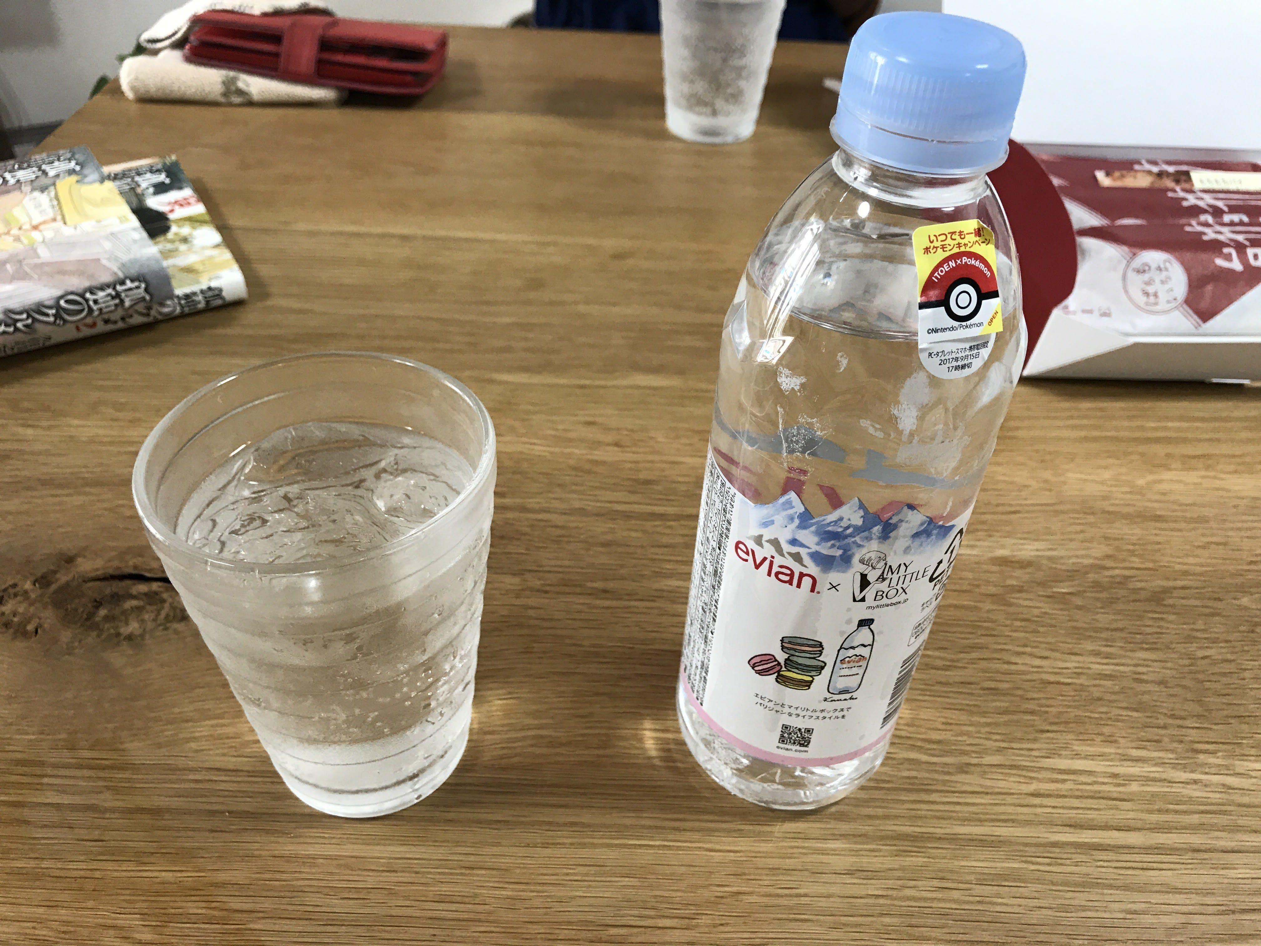 水を飲むチャレンジ