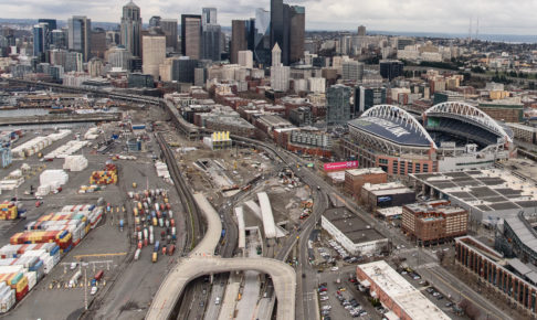 シアトルの街並みイチロー
