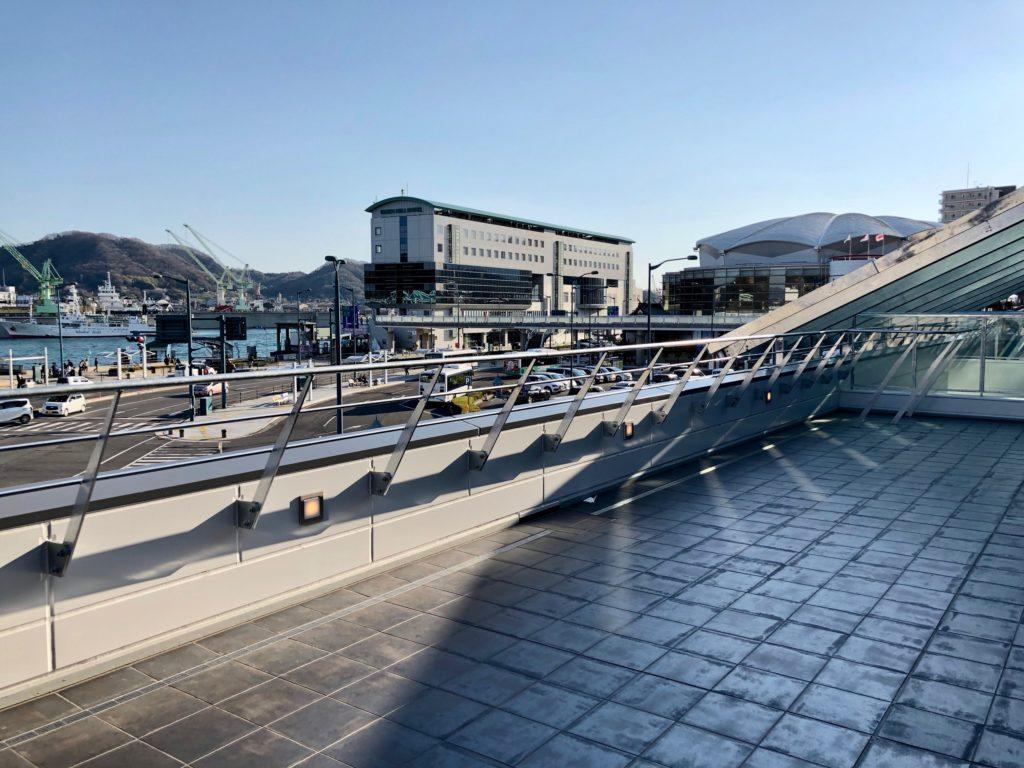 新尾道駅の展望テラス