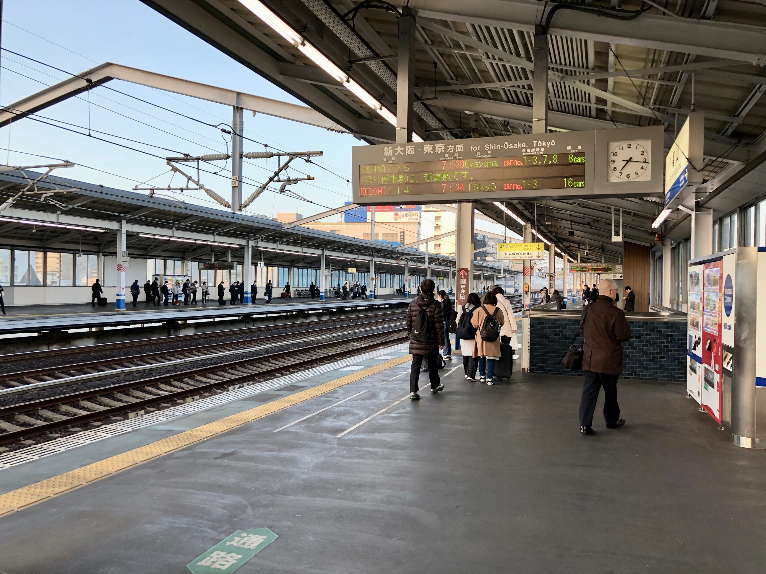 福山駅新幹線ホーム