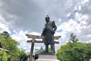 豊臣秀吉の銅像