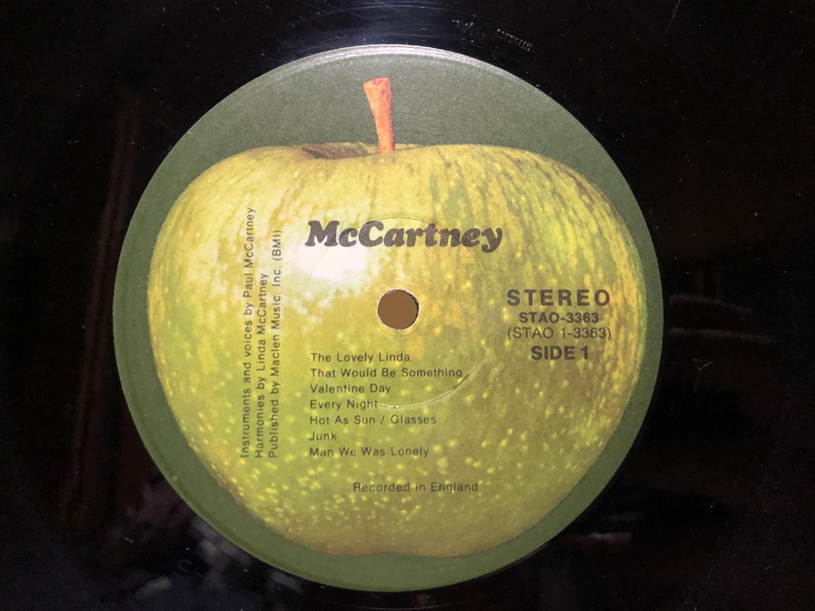 マッカートニーのレーベル面