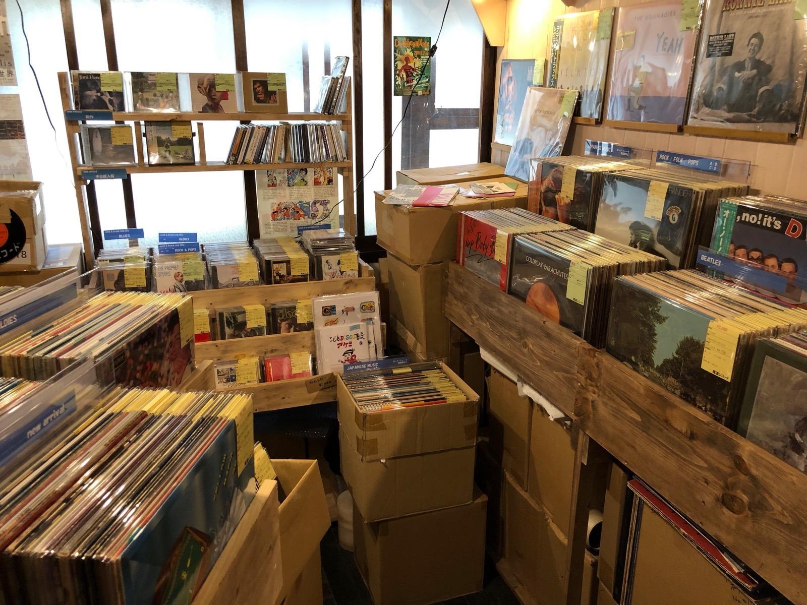 尾道レコードの店内 onomichi