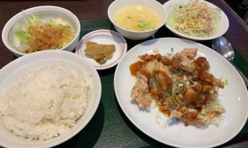 又来軒の唐揚げ定食 yuraiken