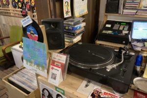 尾道レコードのレジ onomichi records