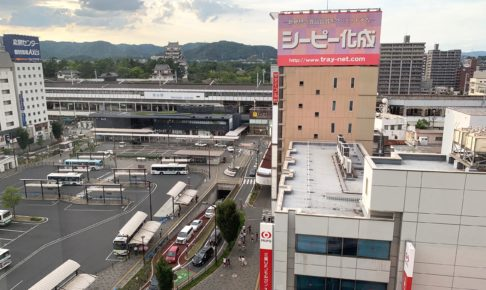 福山駅前の様子 fukuyama station
