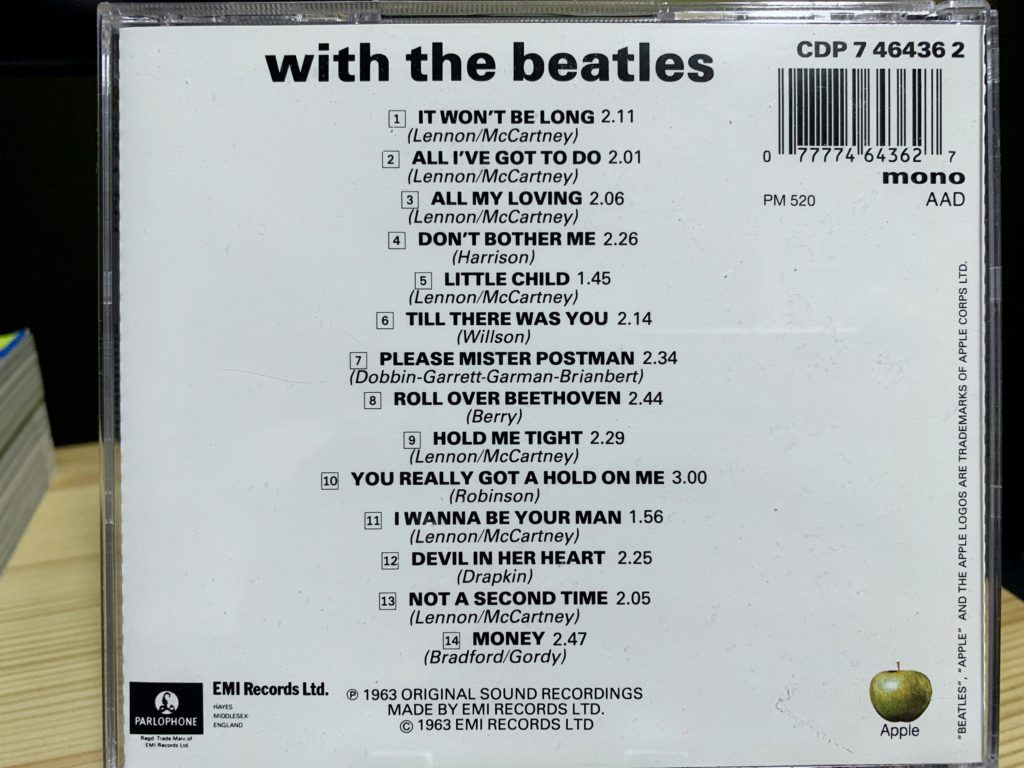 with the beatles mono cd back