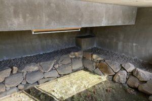 福山城の西外堀 石垣