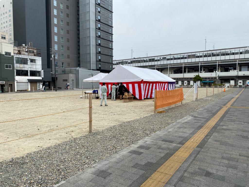 caspa 福山駅前 キャスパ跡地 工事 地鎮祭